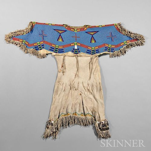 Lakota Beaded Hide Child's Dress