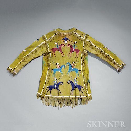 Lakota Beaded Hide Pictographic Coat