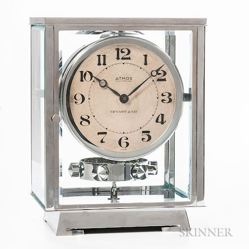 Jaeger LeCoultre Chrome-plated Tiffany & Co. Atmos Clock