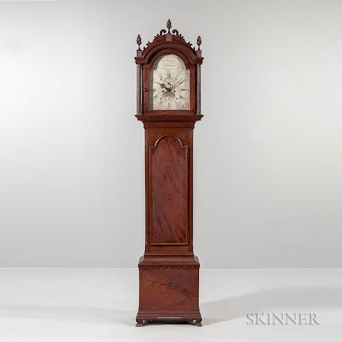Thomas Harland Figured Mahogany Tall Clock
