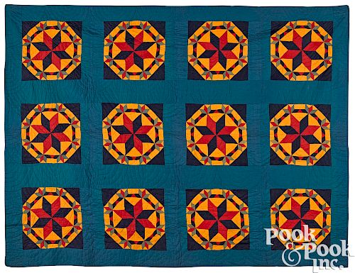 Pennsylvania Patchwork Crown Of Thorns Quilt By Pook Pook Inc