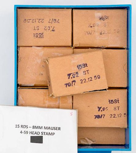 8mm Mauser Ammo 300 Rds by Cowan's Auctions - 173994 | Bidsquare