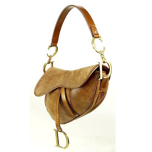 5d838b51cf5e Dior Bronze Leather Saddle Pouch. Lot 197. Prev Lot · Next Lot · item Image