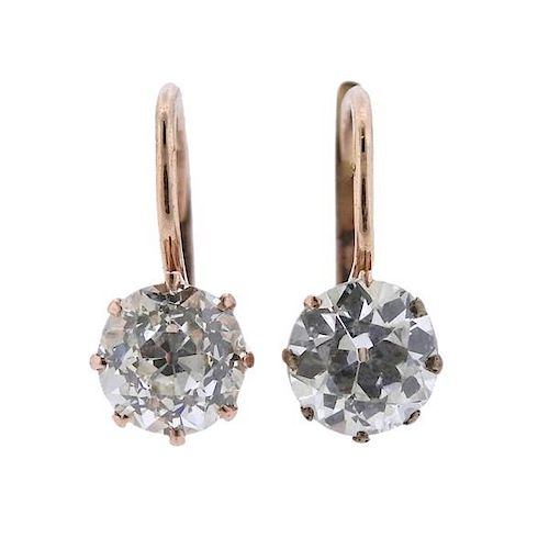 14k Gold Old Mine Cut Diamond Earrings For Sale At Auction On 16th October Bidsquare
