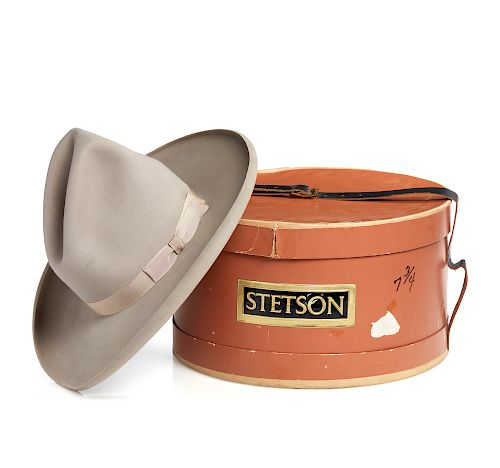 b9cd4b98fc2786 Early Stetson Hat and Original Box by Witherell's - 1184569 | Bidsquare
