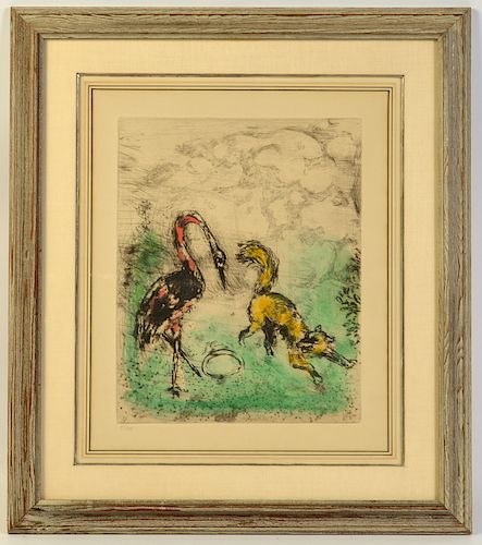 Marc Chagall Colored Etching