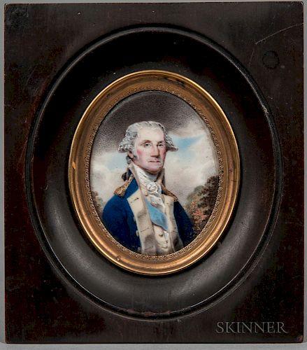 William Russell Birch (Pennsylvania/England, 1755-1834)  Portrait Miniature of General George Washington