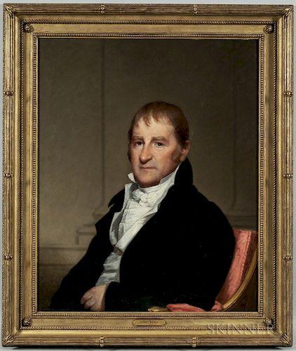 Gilbert Stuart (Massachusetts/Rhode Island, 1755-1828)  Portrait of Mr. Moses Brown of Beverly, Massachusetts