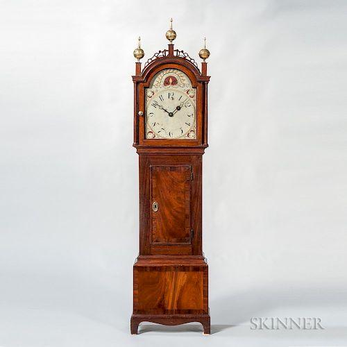 Mahogany and Mahogany Veneer Inlaid Dwarf Clock