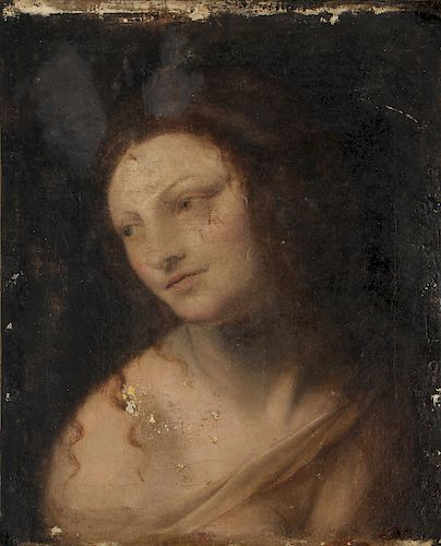 Antique Italian Portrait Painting, Possibly 16th C., Ex: Nelson Shanks collection