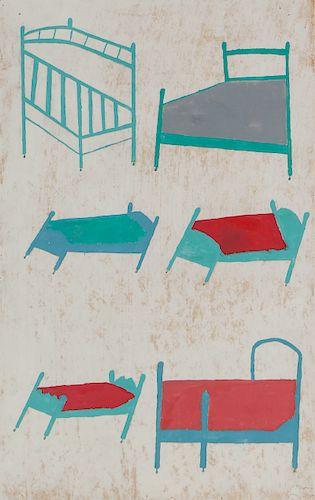 Uncle Pete Drgac (1883-1976) Untitled (Beds)