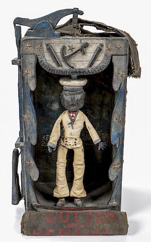 "Rare/Important Antique Dancing Minstrel Sailor, ""Cutter Nemaha"""