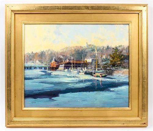Kathleen Billis, (American, 20th/21st century), Harbor Ice (Kennebunkport, Maine), 2008