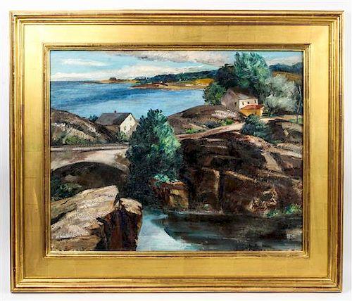 Ann McNulty Brockman, (American, 1899-1943), Maine Coastal Scene