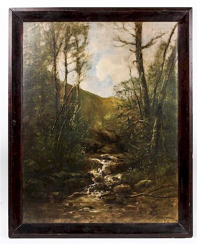 Joseph Jefferson IV, (American, 1829-1905), Mountain Ravine, 1894