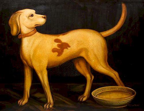 Reginald Baxter, (Canadian, 20th century), Dog With Bowl