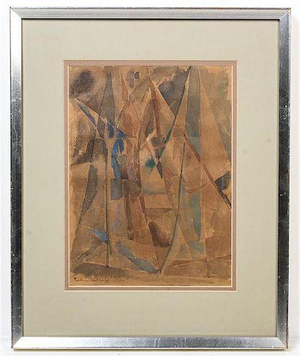 * Else Alfelt, (Danish, 1910-1974), Mountainous Terrain, 1943