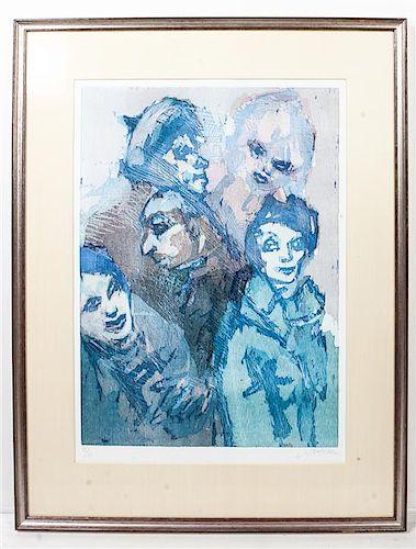 * Mino Maccari, (Italian, 1898-1989), Five Figures