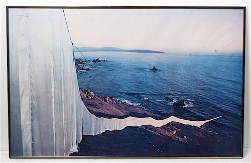 Christo and Jeanne-Claude, (American, 1935-2009), Running fence (view running into the sea), 1976