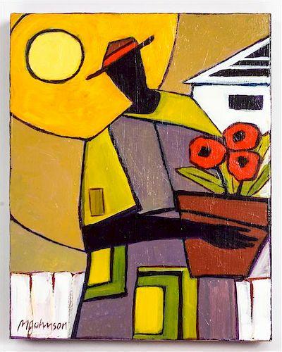 Mandy Johnson, (American, b. 1952), Woman with flower pot