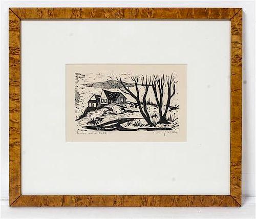 Leon Gordon Miller, (American, 1917-1997), House on a Hill