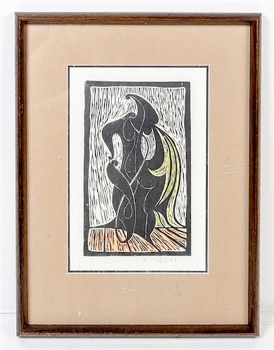 * Frantisek Muzika, (Czech, 1900-1974), Untitled Composition, 1946