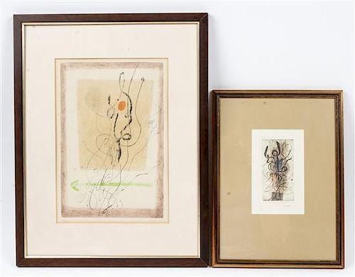 * Christian Tisari, (20th century), two prints