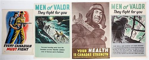* A Group of Four Canadian WWII Posters Largest 36 x 24 inches.