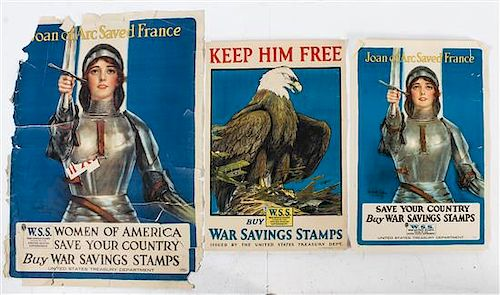 * A Group of Six American WWI Posters Largest 40 1/4 x 30 inches.