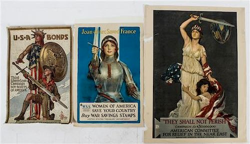 * A Group of Seven American WWI Posters Largest 42 1/4 x 27 7/8 inches.