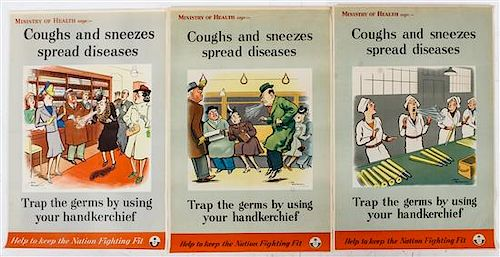 * A Group of Six WWII Posters Larger 29 1/2 x 19 3/8 inches.