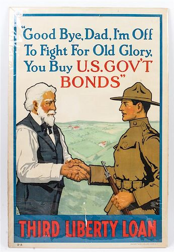 A Group of Three WWII Posters 30 x 20 inches.
