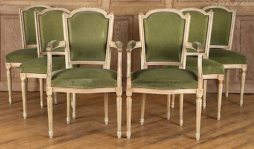 Swell Set 6 French Louis Xvi Style Dining Chairs C 1940 By Kamelot Ocoug Best Dining Table And Chair Ideas Images Ocougorg