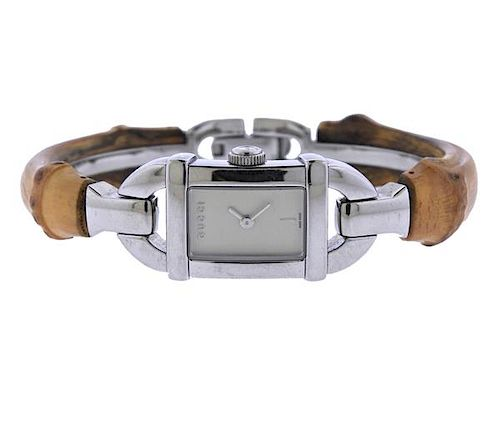 04dc0898d63 Gucci Timepieces Steel Bamboo Watch 6800L. Lot 472. Prev Lot · Next Lot ·  item Image
