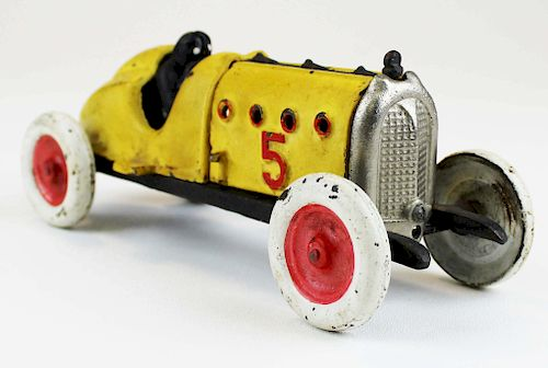 vintage Hubley Red Devil cast iron race car