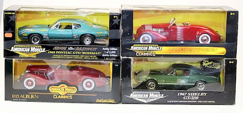 four ertl american muscle diecast carsduane merrill and co