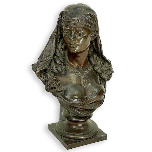Antique French Spelter Orientalist Female Bust