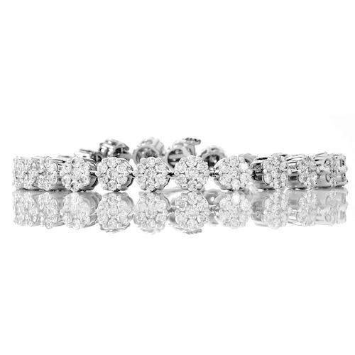 6.50ct Diamond and 14K Gold Bracelet