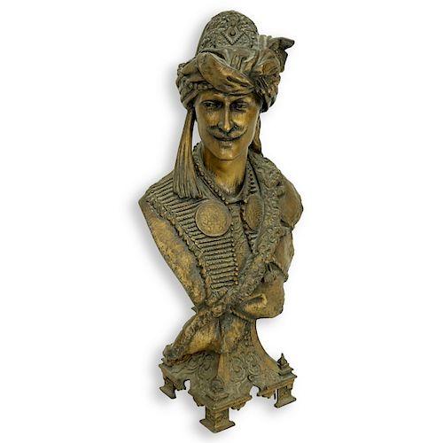 Antique Orientalist French Spelter Sculpture