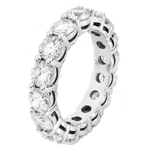 4.50ct Diamond and 18K Gold Eternity Band