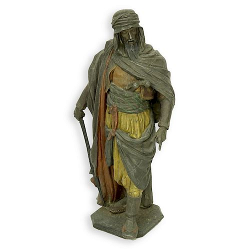 Antique Orientalist French Polychrome Spelter