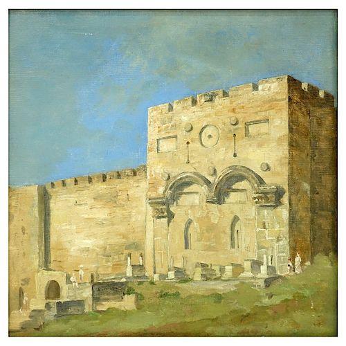 Orientalist School Oil on Artist Board