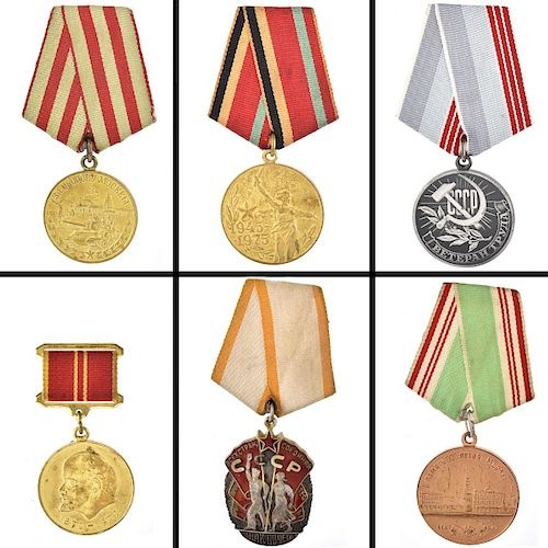 Collection of Six Soviet/Russian Medals