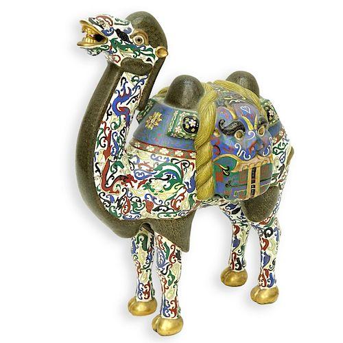 Vintage Chinese Cloisonne Camel Figure