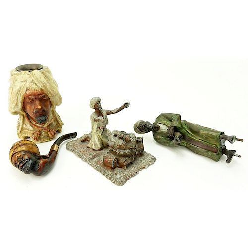Grouping of Four (4) Antique Orientalist Items
