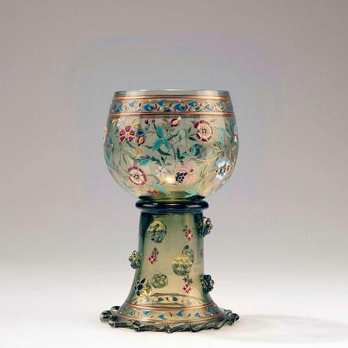 Wine glass, c. 1885