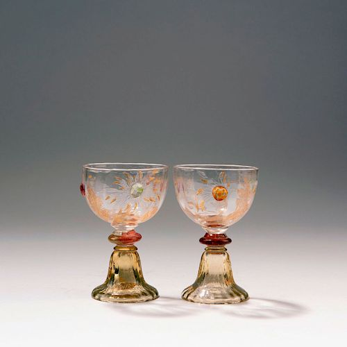 Two sherry glasses from the 'Chrysanthemes' set, 1903