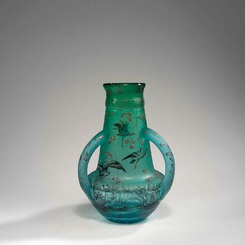 Cigognes' vase with handles, 1895