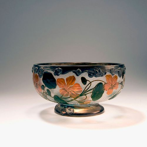 Capucines' bowl with silver mounting, 1898-1900