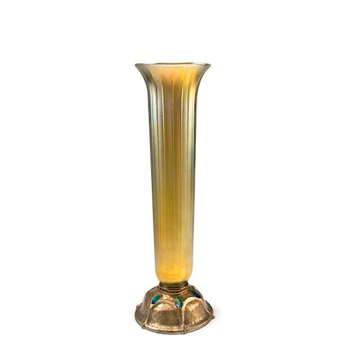 Tall vase with bronze base, 1920-28